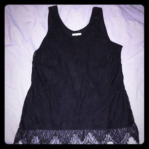 Black flowy lace tank top